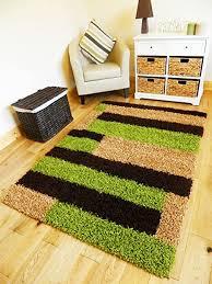 new modern braun grün beige biscuit heavy 5 cm shaggy flor klein medium groß wohnzimmer büro teppich matte teppich grün 80 x 150 cm