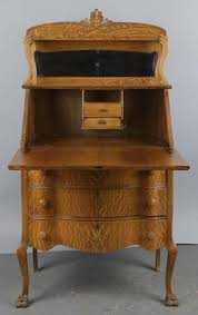 is it a fall front or drop front antique desk