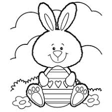 Easter Bunny Coloring Image