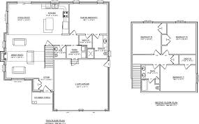Open Concept Kitchen Living Room Floor Plan Two Storey Layout