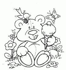 Good Coloring Free Printable Teddy Bear Pages On For Girls To