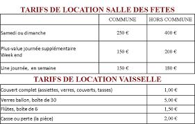 tarif salle des fetes louer la salle des fêtes de thésée site de la commune de thésée