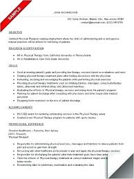 Mental Health Resume Examples Sample Counselor Awesome Design Physical Therapy