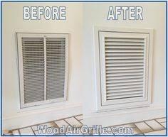 wood return air vent by woodairgrille com wood return air filter