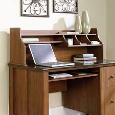 Sauder Computer Desk Cinnamon Cherry by Leaning Shelf Bookcase With Computer Desk Office Furniture Home