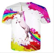 Image Is Loading Newest Womens Mens Unicorn Vomiting Rainbow SPEW Funny