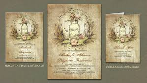 Read More RUSTIC FLORAL VINTAGE MASON JAR WEDDING INVITATION