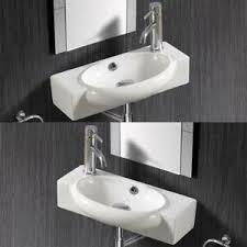 details zu klein gäste wc waschtisch waschbecken handwaschbecken wandmontage 50 x 12 cm