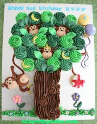 Monkeys In A Tree Cupcake Cake Tutorial