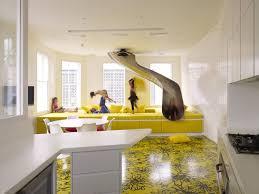 schöne wohnideen mit indoor rutsche für eine ausgefallene