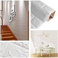 3d selbstklebende tapete wasserdichte tapete in steinoptik für bad und schlafzimmer 35 x 38 5 cm 10 stück weiß