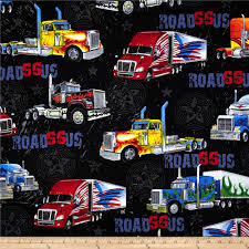 Kanvas On The Road Again Big Rig Black From @fabricdotcom Designed ... Country Paradise Red Truck Fabric Panel Sewing Parts Online Fire Truck Fabric By The Yard Refighter Kids Etsy Collage Christmas Susan Winget Large Cotton 45 Food Marshall Dry Goods Company Trucks Main Black Beverlyscom Retro Door Hanger Unique Home Decor Wreath Ice Cream Pistachio Flannel By Just Married Honk For Love Print Joann Rustic Old Pickup On The Backyard Abandoned 2019 Tree 3d Digital Prting Waterproof And