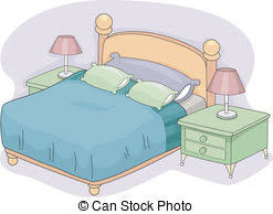 Bedroom Clipart by Bed Clipart Double Bed Pencil And In Color Bed Clipart Double Bed
