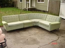 Danish Modern Sofa Ebay by 50 U0027s Kroehler Mid Century Modern 4 Pc Green Tweed Sectional