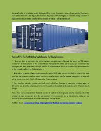 100 Cheap Shipping Container For Sale By SAI CONTAINER Issuu