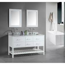 Design Element London 60-Inch Double Sink Bathroom White Vanity Set ... Design Element Milan 24 Bathroom Vanity Espresso Free Shipping 78 Ldon Double Sink White Dec088 36 Single Set In Galatian 88 With Porcelain Stanton 72 W Vessel Inch Drawers On The Open Bottom Dec074sw Citrus 48inch Solid Wood W X 22 D 61 Gray Marble Hudson 34 H