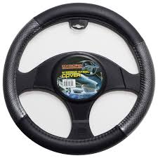 Carbon Fiber Steering Wheel Cover For Car Truck Van SUV Gray Black ... Truck Steering Wheel Cover Black Silver 4446cm Roadkingcouk Brown Masque Grey 4748cm 14 F814h Forever Sharp Wheels Scania 3series Black Real Italian Leather Steering Wheel Cover 1987 Wheel In A Truck Stock Photo Image Of Switches 40572066 Fichevrolet Ww Ii Fire Eagle Field Two Steering Wheeljpg Bestfh Rakuten Leather Car Auto American Simulator Youtube Pro Usa Chevy Gm Perforated Ss