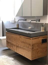 betonwaschtisch schickes design fürs bad aus sichtbeton