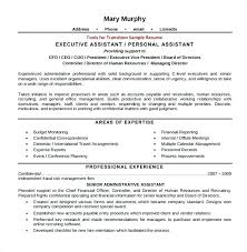 Sample Personal Assistant Resume Medical Administrative