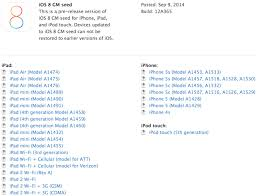 Check Model Number iOS 8 Devices