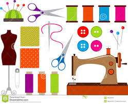 Sewing set stock vector Image of tailor stuff needlework
