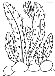 Good Cactus Coloring Page 93 With Additional Gallery Ideas