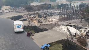 100 Postal Truck Fire Video USPS Mail Carrier Delivers To BurnedOut Homes In Santa Rosa