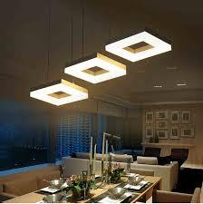 moderne led pendelleuchten für esszimmer wohnzimmer acryl aluminium rechteck design led pendelleuchte leuchten ac 85 265 v