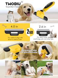 Dog Hair Shedding Blade by Amazon Com Twobiu Pet Deshedding Brush For Dogs U0026 Cats Dog