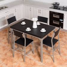 US $164.99  Giantex 5 Piece Dining Set Table & 4 Chairs Wood Metal Kitchen  Breakfast Furniture Black Living Room Set HW54323 On AliExpress Steel Ding Room Chairs Kallekoponnet Modern Narrow Table Set Cute With Photo Of 36 Round Natural Laminate With Xbase And 4 Ladder Back Metal Black Vinyl Seat 2 Ding Tables 8 Chairs In Metal Black Retro Design Square Walnut Grid Barstools Amazoncom Shing Wood Laneberg Svenbertil Brown Lucano Marble Leather Mesmerizing Iron Legs Reclaimed Base 5 Piece Kitchen Tag Archived Of Polyurethane Likable Pcs Table