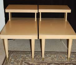 Kent Coffey Blonde Dresser by Mid Century Modern Mersman Blonde End Tables Pair Free Shipping