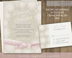 Winter Wedding Invitations Set Kraft Pine And Berries T