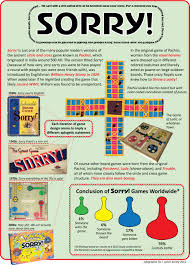 Classic Board Game Nostalgia Presents Sorry Games Infographics