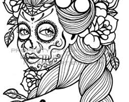 Page Black And White Adult Coloring Book Never By Neverdieart