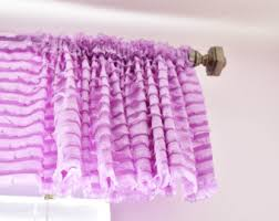 Purple Ruffle Curtain Panel by Coral Valance Coral Ruffle Curtains Coral Curtain
