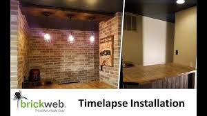 100 Brick Ceiling Webb Thin Install Time Lapse YouTube