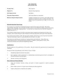 Cnc Machine Operator Resumes