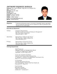 Resume Objective Examples For Restaurant Retail Perfect