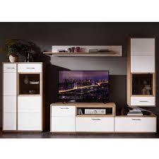 tv anbauwand wohnzimmer set vindrosca 4 teilig
