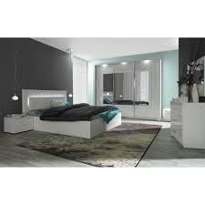 chambre a coucher blanc laqué lit led chevets commode panarea blanc laqué achat vente