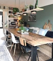 idee plank boven tafel wohnen wohn esszimmer wohnung küche