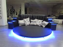 hot sale modern led music round bed frame in China CY006 View