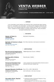 Classical Musician Resume Examples Music Instructor Sample I On Objective Industry Producer