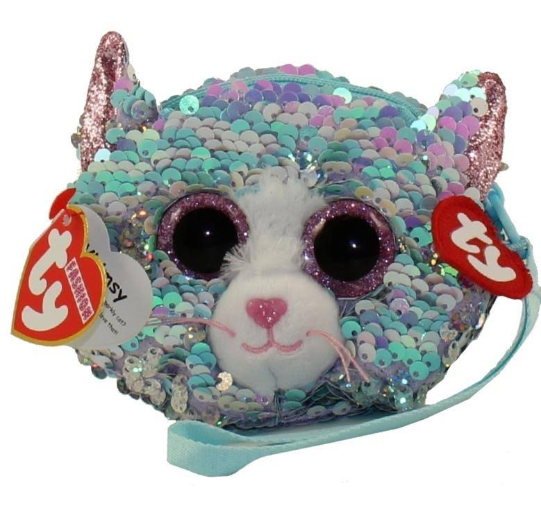 Ty Fashion Whimsy Cat Sequin Wristlet