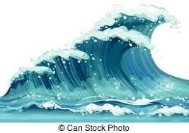 Illustration of a huge ocean wave