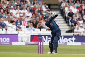 Englands Alex Hales Hits A Six During The Third ODI Match Against Australia In Nottingham
