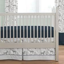 Navy and Gray Woodland 2 Piece Crib Bedding Set