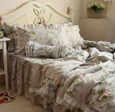 Buy DIAIDI Home TextileVintage Rustic Flower Print Bedding SetPrincess Lace Ruffle BeddingFloral4 5Pcs In Cheap Price On Alibaba