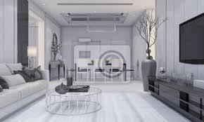 fototapete 3d rendering schöne moderne design luxus wohnzimmer und esszimmer