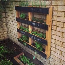Recycled Pallet Vertical Herb Garden